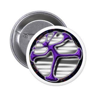 Psychedelic life circle vitruvian man design pins