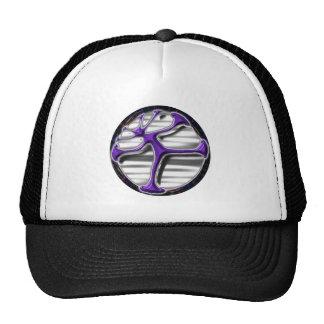 Psychedelic life circle vitruvian man design mesh hat