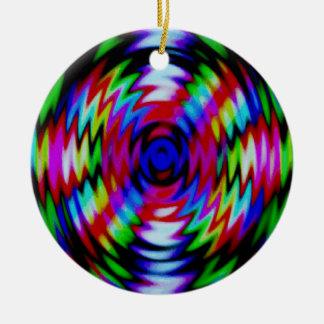 Psychedelic Lightening Ceramic Ornament