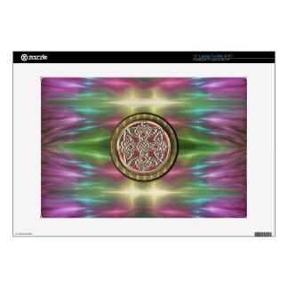 Psychedelic Lights with Celtic Metal Laptop Skin
