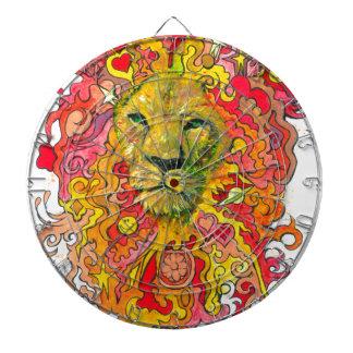 Psychedelic Lion Dart Board