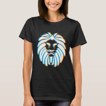 Psychedelic Lion Gift for Big Cat and Animal T-Shirt