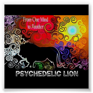 Psychedelic Lion Poster
