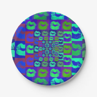 Psychedelic Lips Paper Plate