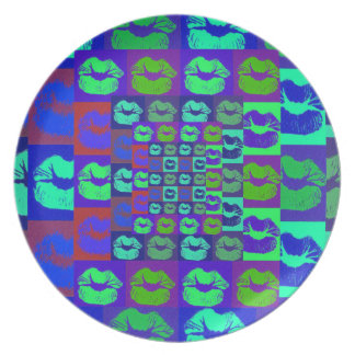 Psychedelic Lips Plate