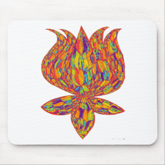 Psychedelic Lotus Mouse Pad