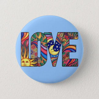 Psychedelic Love Button