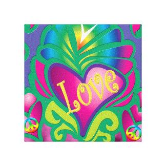 Psychedelic Love Canvas Prints