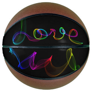 Psychedelic Love Light Swirls Basketball