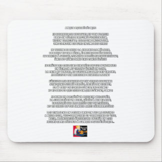 PSYCHEDELIC LOVE - POEM FRANÇOIS CITY MOUSE PAD