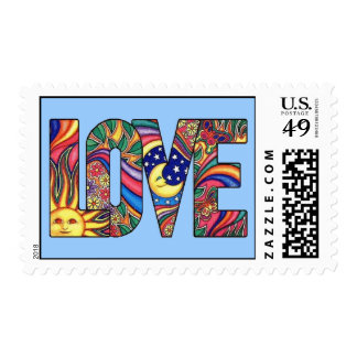 Psychedelic Love Postage