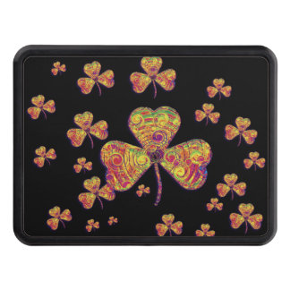 Psychedelic Lucky Clover - Hitch Cover