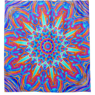 Psychedelic Mandala Red and Blue Shower CurtainPsychedelic Shower Curtains   Zazzle. Red And Blue Shower Curtain. Home Design Ideas