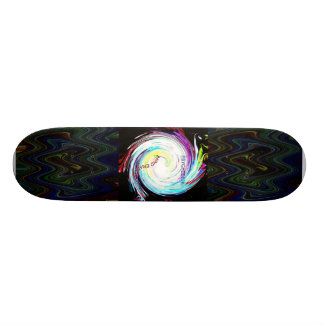psychedelic meets noise; skateboard