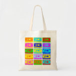 Psychedelic Mix Tape Canvas Bag