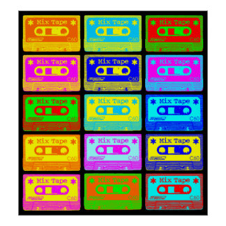 Psychedelic Mix Tape Pop Poster