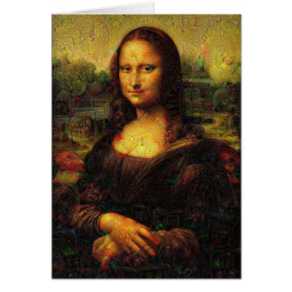 Psychedelic Mona Lisa Card
