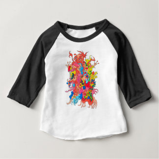 Psychedelic Monster Baby T-Shirt