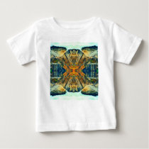 Psychedelic Mountain Range Painting Pattern Baby T-Shirt