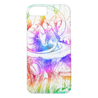 Psychedelic Mushroom Alice's Adventures Wonderland iPhone 7 Case