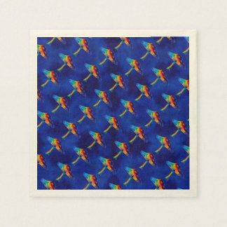 Psychedelic Mushrooms Paper Napkin