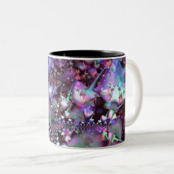Psychedelic mushrooms Two-Tone coffee mug