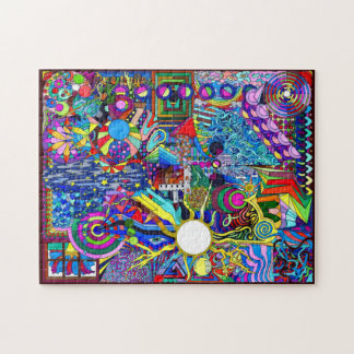 Psychedelic Myndlspyll Pour Graphic Design Jigsaw Puzzle