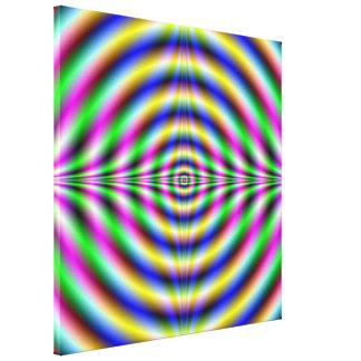 Psychedelic Neon Eye Canvas Print