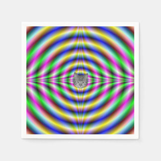 Psychedelic Neon Eye Standard Cocktail Napkin