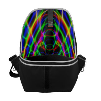 Psychedelic Neon Laser Light Abstract Courier Bag