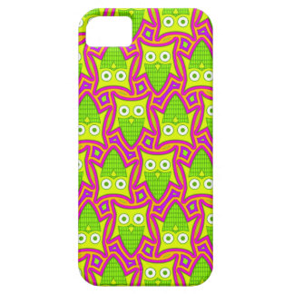 Psychedelic Neon Owl Pattern iPhone SE/5/5s Case