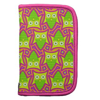 Psychedelic Neon Owl Pattern