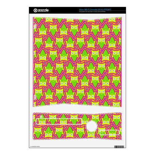 Psychedelic Neon Owl Pattern Skins For The Xbox 360 S