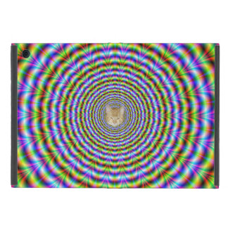Psychedelic Neon Ripples + or - Cat iPad Mini Covers