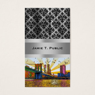 Psychedelic New York City: Brooklyn Bridge, WTC #1 Business Card