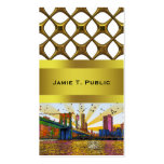 Psychedelic New York City: Brooklyn Bridge, WTC #1 Double-Sided Standard Business Cards (Pack Of 100)