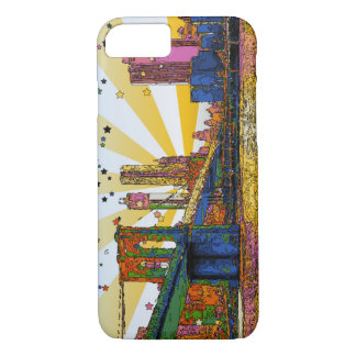 Psychedelic New York City: Brooklyn Bridge, WTC #1 iPhone 7 Case
