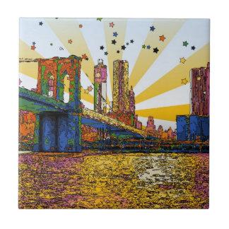 Psychedelic New York City: Brooklyn Bridge, WTC #1 Tile