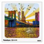 Psychedelic New York City: Brooklyn Bridge, WTC #1 Wall Decor