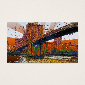 Psychedelic NYC: Brooklyn Bridge #1 Business Card