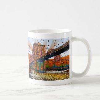 Psychedelic NYC: Brooklyn Bridge #1 Coffee Mug