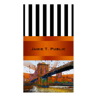 Psychedelic NYC: Brooklyn Bridge #1 Double-Sided Standard Business Cards (Pack Of 100)