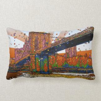 Psychedelic NYC: Brooklyn Bridge #1 Pillow