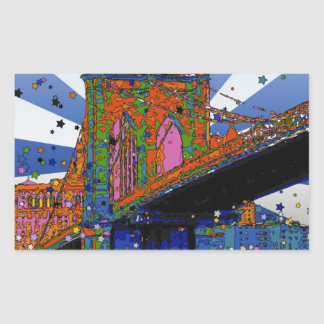 Psychedelic NYC: Brooklyn Bridge #2 Stickers