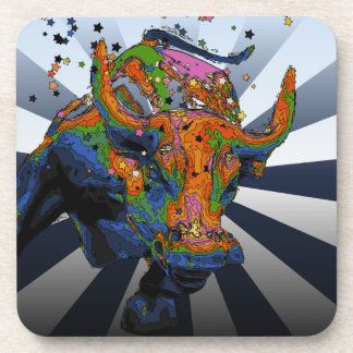 Psychedelic NYC: Charging Bull of Wall Street Coaster