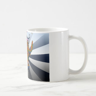 Psychedelic NYC: Charging Bull of Wall Street Coffee Mug