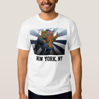 Psychedelic NYC: Charging Bull of Wall Street Shirt