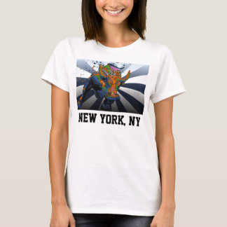 Psychedelic NYC: Charging Bull of Wall Street T-Shirt
