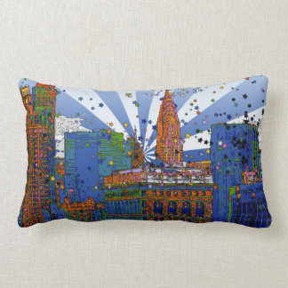 Psychedelic NYC: Chrysler, Flatiron #1 Throw Pillows
