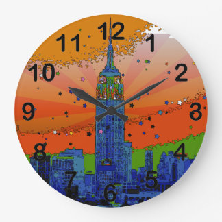 Psychedelic NYC: Empire State Building #3 Wallclock